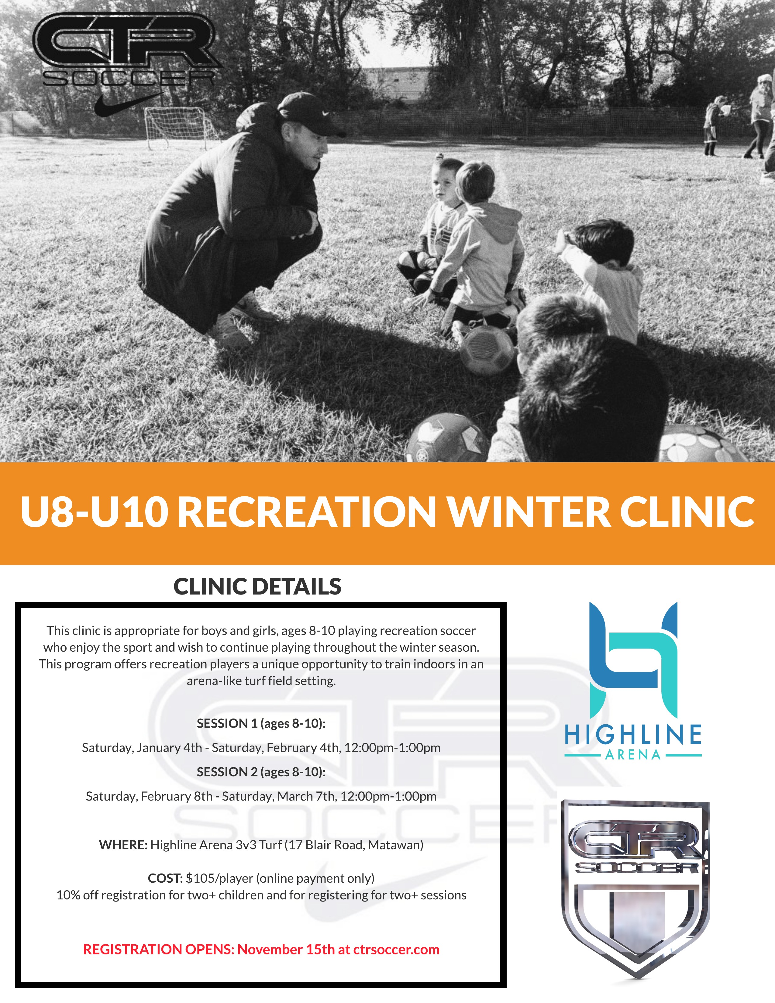 U8-U10 Recreation Winter Clinic